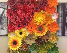 Giant Paper Flowers Wall  Paper Flower Wall  Wedding от MioGallery
