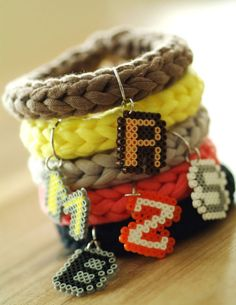 Armband mit Mini Bügelperlen Mini, Bracelets, Jewelry, Fashion, Diy Crochet, Breien, Moda, Jewlery, Jewerly