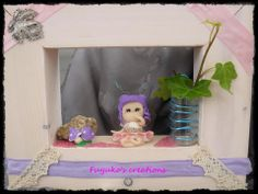 Third fairy in a box -polymer clay and wood-