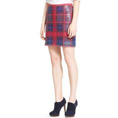 Image for PLAID SEQUIN SKIRT from Tommy Hilfiger USA