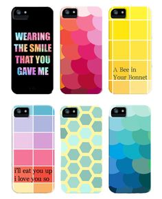Brightly colored Iphone Cases inspired by Pantone color palettes