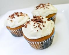 Fall treats to smell up the house with!  Pumpkin Cupcakes with Maple Cream Cheese Frosting