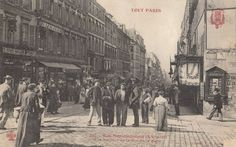 Rue de Ménilmontant au niveau de la rue de la Mare vers 1900 #Paris20