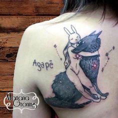 Diseño de la artista Chiara Bautista. Tatuaje por Mariana Groning. Estudio Karma Tattoo.