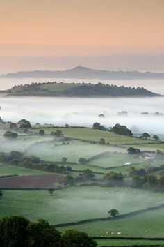 Several miles north of Glastonbury is a spot on the Mendip hills known as Deerleap. It is well known by local artists because of the far reaching views it provides over the Somerset Levels and of Glastonbury