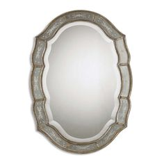 Uttermost 'Fifi' Etched Antique Gold Mirror | Overstock.com
