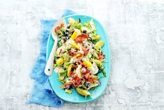 Zomerse salade met ei & pancetta - Recept - Allerhande Meat Salad, Salad Recipes, Healthy Recipes, Good Food, Yummy Food, Lunches, Food Inspiration, Salads, Bbq