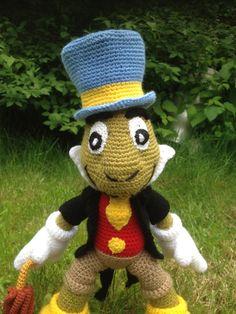 Jiminy Cricket toy doudou crochet handmade by LaPeloteduChat