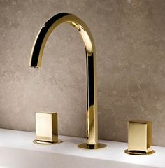 Robinetterie OR   Fantini Rubinetti Gold Bathroom Faucet   3 Hole
