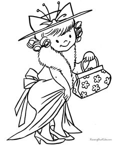 Kid Halloween coloring page!