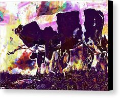 Cow Cattle Grazing Watercolor Canvas Print / Canvas Art by PixBreak Art Abstract Canvas, Cattle, Great Artists, Cow, Moose Art, Greeting Cards, Tapestry, Watercolor, Art Prints