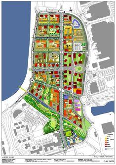 Plan masse de la zone d'aménagement concerté (ZAC)   Bordeaux 2030