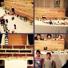 Building Noah's Ark for a family worship project in Tennessee, USA. Photo shared by @amberanderson77