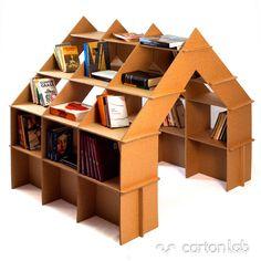i just luv this...what a great find! casita-estanteria-carton-cartonlab-cardboard-house-shelf-bookshelves-(1)