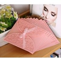 Creative wedding invitation card with delicate design and romantic color. Ideal item to share your j