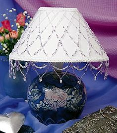 What to do with broken jewelry tiffany beads and reuse diy beaded lamp shade beading diylampshades handmadehomedecor http aloadofball Gallery