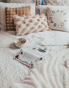 granola + a magazine in bed | where I want to be