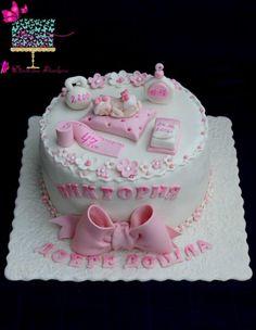 Baby girl cake by Ditsan Elegant Birthday Cakes, Baby Birthday Cakes, Baby Girl Cakes, Cake Baby, Baby Shower Cake Decorations, Baby Shower Desserts, Baby Shower Cakes, Welcome Baby Girls, Friends Cake
