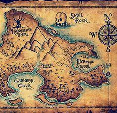 A map of Neverland. Aka my home