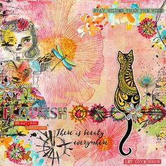 Paula Kesselring & Nancie Rowe Janitz & Lynne-Marie & Little Butterfly Wings - Mixed Media Monthly main kit- May 16 FLOURISH / BEAUTIFUL / CREATURE http://the-lilypad.com/store/Mixed-Media-Monthly-main-kit-May-16-CALM-PASSING-STORM.html  Little Butterfly Wings - M3 May 16 - Add On Elements http://the-lilypad.com/store/Elements-add-on-M3-May-2016.html  Little Butterfly Wings - M3 May 16 - Add On Word strips http://the-lilypad.com/store/Word-Strips-add-on-M3-May-2016.html Nancie Rowe Janitz…