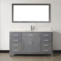 "Found it at Wayfair - Celize 60"" Single Bathroom Vanity Set with Mirror"