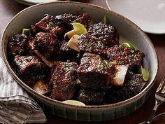 Amy makes tender beef short ribs covered with a smoked porter beer glaze.