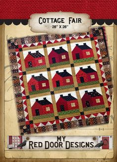 Cottage Fair Quilt Kit by myreddoordesigns on Etsy, $55.00.  We just listed again.  This kit sold out so fast last time we listed it, hurry limited supply!!