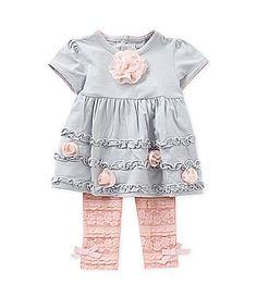 Wendy Bellissimo 324 Months RuchedHem Dress and LaceHem Leggings Set #Dillards