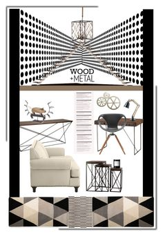 """""""Wood and Metal'"""" by dianefantasy ❤ liked on Polyvore featuring interior, interiors, interior design, home, home decor, interior decorating, Interlude, Pier 1 Imports, Andrew Martin and Byredo"""