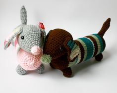stuffed animals, amigurumi, dog, weiner dog