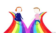 All colours are for everyone!  Illustration by Rosie Chomet