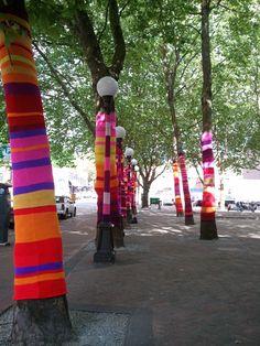 Artificial Light - yarn installation in Seattle