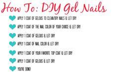 DIY Gel Nails - Hairspray and Highheels