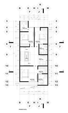 3 floor house located in Puebla Mexico with a contemporary facade and lots of goodies. Narrow House Plans, Duplex House Plans, Modern House Plans, House Floor Plans, Minimalist House Design, Tiny House Design, Modern House Design, Indian House Plans, Casa Patio