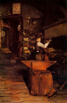 El herrero.Santiago Rusiñol