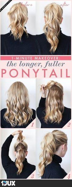 The longer, fuller PONYTAIL - Tutorial