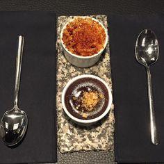 Always room for dessert  #sticksnsushi #cremebrulee #chocolatefondant #twostomachs @sticksnsushi by diepj9935