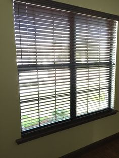 Stunning Stained Wenge Colored Wood Blinds With Coordinating Wand And Tels Budget
