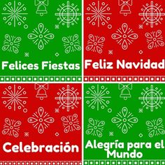 Holiday & Christmas Greetings in Spanish Printable