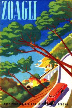 Opuscolo promozionale di Zoagli prodotto dall'Ente Provinciale per il Turismo di Genova (1941)