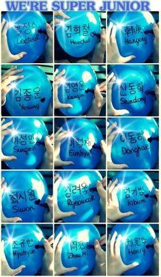 Super Junior balloons
