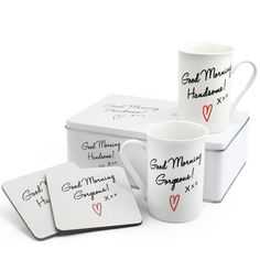 Check this out!! The Kitchen Gift Company have some great deals on Kitchen Gadgets & Gifts Good Morning Gorgeous & Handsome Mug Gift Set #kitchengiftco