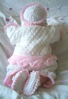 CROCHET DOLLS DESIGN Angies Angels patterns - exclusive designer knitting and crochet patterns for your precious baby or reborn dolls, handmade, handknitted, baby clothes, reborn doll clothes Knitting Dolls Clothes, Knitted Baby Clothes, Knitted Dolls, Crochet Dolls, Baby Cardigan Knitting Pattern Free, Baby Knitting Patterns, Crochet Patterns, Baby Set, Baby Clothes Patterns