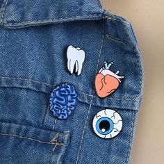 Sale Women Chic Eye Heart Brain Human Organs Brooch Collar Pin Jewelry Accessories Christmas Gift broches para as mulheres pins