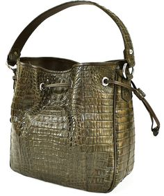Angel Lin 'STELLA' 100% Handmade Genuine Exotic Leather Crocodile Skin Women Designer Handbag by NancyBoutique