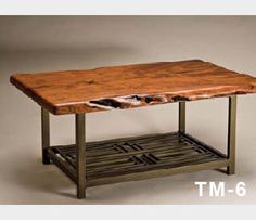 Mesquite Wood and Steel Tables
