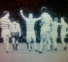 Celtic 1 Racing Club 0 in Oct 1967 at Hampden Park. Billy McNeill scored the only goal on 69 minutes in the Intercontinental Cup Final, 1st Leg.