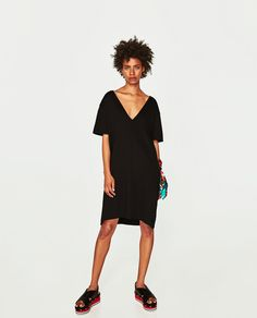 V-NECK DRESS-DRESSES-WOMAN-COLLECTION AW/17 | ZARA United States