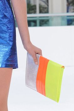 This bag is perfect for a pop of color with any outfit! From Spring 2012 London Fashion Week Handbags.