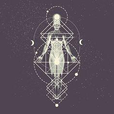 Sacred Geometry (divine Feminine) Art Print by Mandala Of Life - X-Small Sacred Geometry Symbols, Sacred Geometry Tattoo, Illustration Tutorial, Tattoo Feminin, Karten Tattoos, Bel Art, Sacred Feminine, Feminine Symbols, Sacred Art